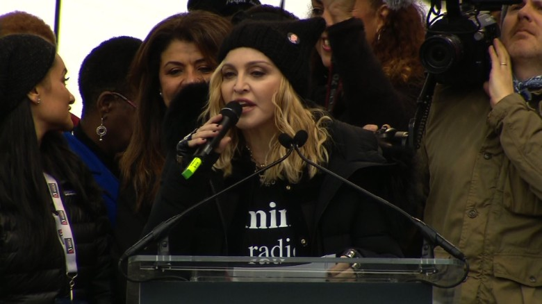 Madonna to march critics: 'F**k you'
