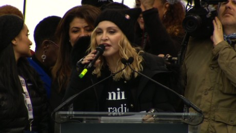 In R-rated anti-Trump rant, Madonna muses about 'blowing up White House'