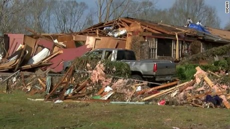 Georgia storms survivor: 'We were scared'