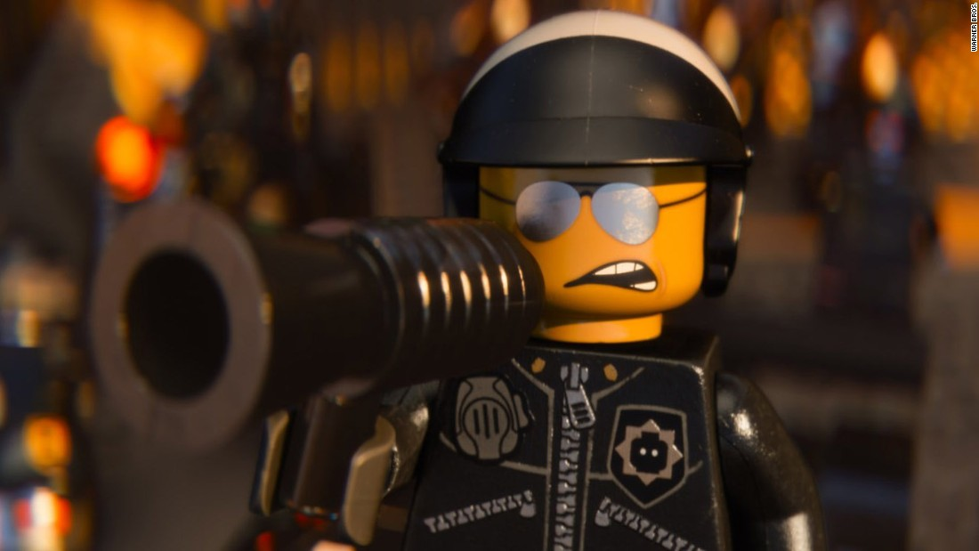 "Liam Neeson voices both Good Cop and Bad Cop, whose head swivels around to reveal two faces, in ""The Lego Movie."""