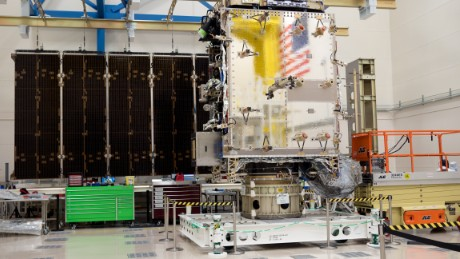 GOES-S, seen here at Lockheed Martin Corporation's Littleton, Colorado, facility in September, is undergoing environmental testing.