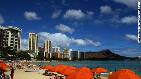 A view of Honolulu's Waikiki beach on June 15, 2010.