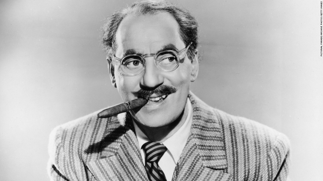 "Groucho Marx and his brothers were so influential, it's hard not to picture Groucho's glasses, mustache and cigar when conjuring up the image of a ""comedian."" The Marx brothers moved from physical humor to verbal wit with ease, with a knack for the punchline. ""Somebody said to Groucho, 'How would you like to be remembered?'"" <a href=""http://www.cbsnews.com/news/remembering-groucho-marx/"" target=""_blank"">actor Elliott Gould recalled</a>. ""Groucho said, 'Preferably alive.'"""