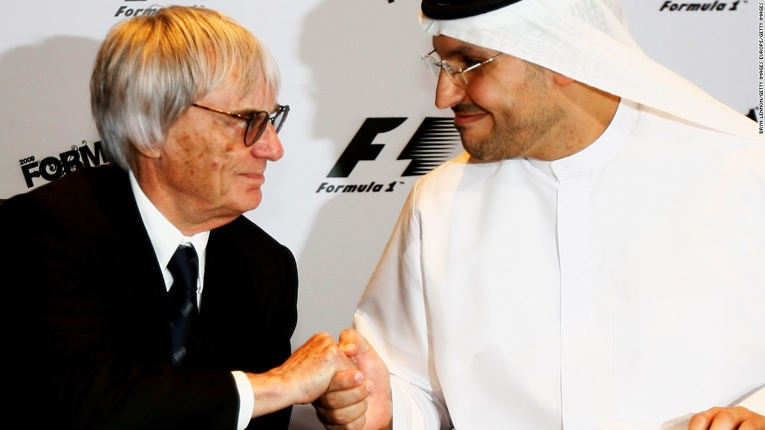 Ecclestone signs a deal with Khaldoon Al Mubarak, Chairman of the Abu Dhabi Executive Affairs, which saw Abu Dhabi become a Formula One Championship host in 2009.