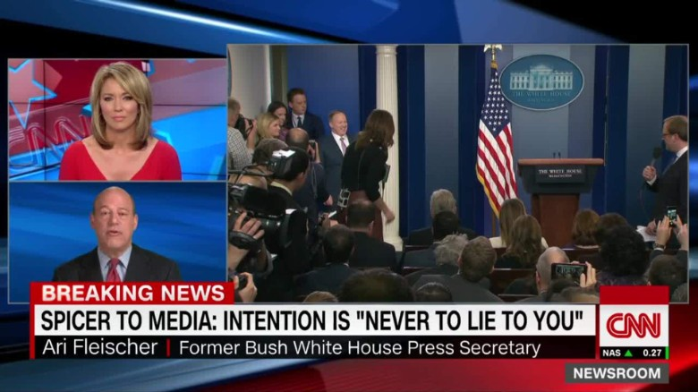 exp fleischer reviews press sec spicer performance cnntv_00002001
