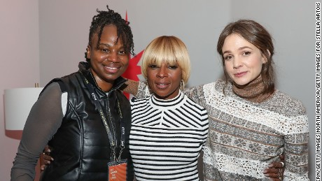 Dee Rees, Mary J. Blige and Carey Mulligan at the 'Mudbound' party during the Sundance Film Festival on January 21, 2017 in Park City, Utah.