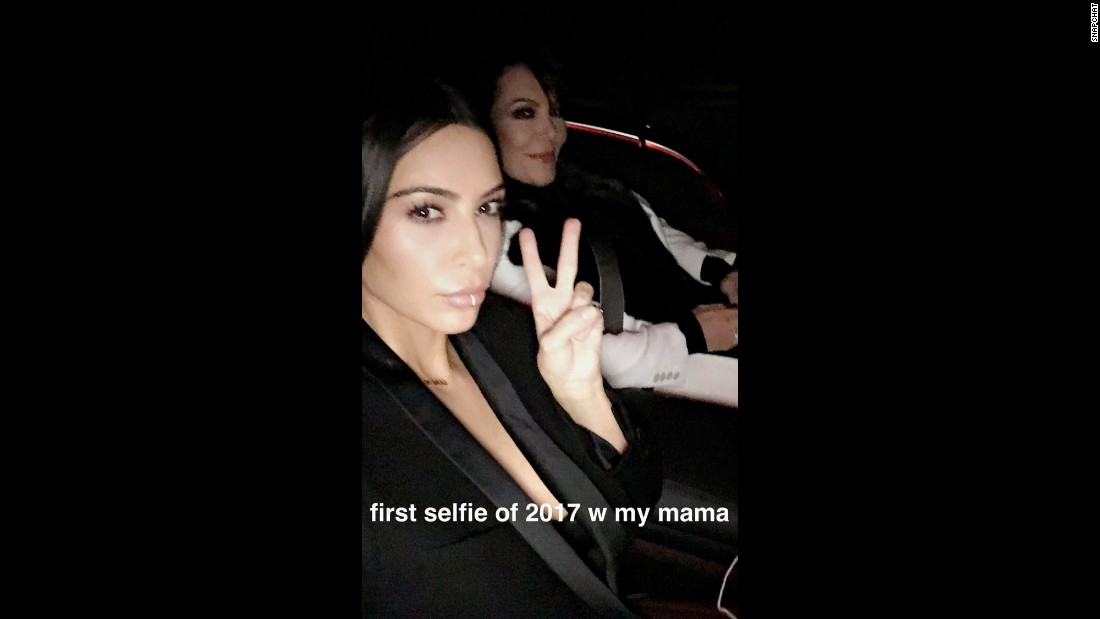 "Television personality Kim Kardashian returned to social media this month, posting a Snapchat selfie with her mother, Kris Jenner, on Thursday, January 5. Kardashian had taken some time off after <a href=""http://www.cnn.com/2016/10/02/entertainment/kanye-west-family-emergency/index.html"" target=""_blank"">being the victim of an armed robbery</a> in October."