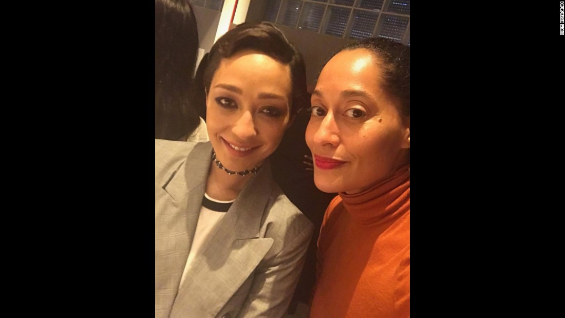 "Actresses Ruth Negga, left, and Tracee Ellis Ross take a photo together on Thursday, January 5. ""Last night I hosted a screening for @LovingTheFilm starring the lovely Ruth Negga,"" <a href=""https://www.instagram.com/p/BO5s3lhhaZN/"" target=""_blank"">Ross said on Instagram.</a> For her role in the film, Negga has been nominated for a best actress Oscar. <a href=""http://www.cnn.com/2017/01/24/entertainment/gallery/oscar-nominations-2017/index.html"" target=""_blank"">See more Oscar nominations</a>"