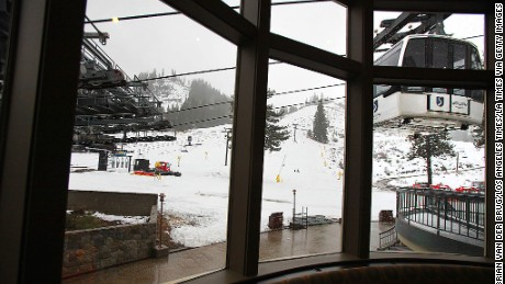 SQUAW VALLEY, CA- NOVEMBER 16 2012: The view out to the slopes from the Olympic House November 16 2012 in Squaw Valley. The Olympic House is undergoing a renovation with new and expanded seating, part of a five-year 70-million improvement project.  (Photo by Brian van der Brug/Los Angeles Times via Getty Images)