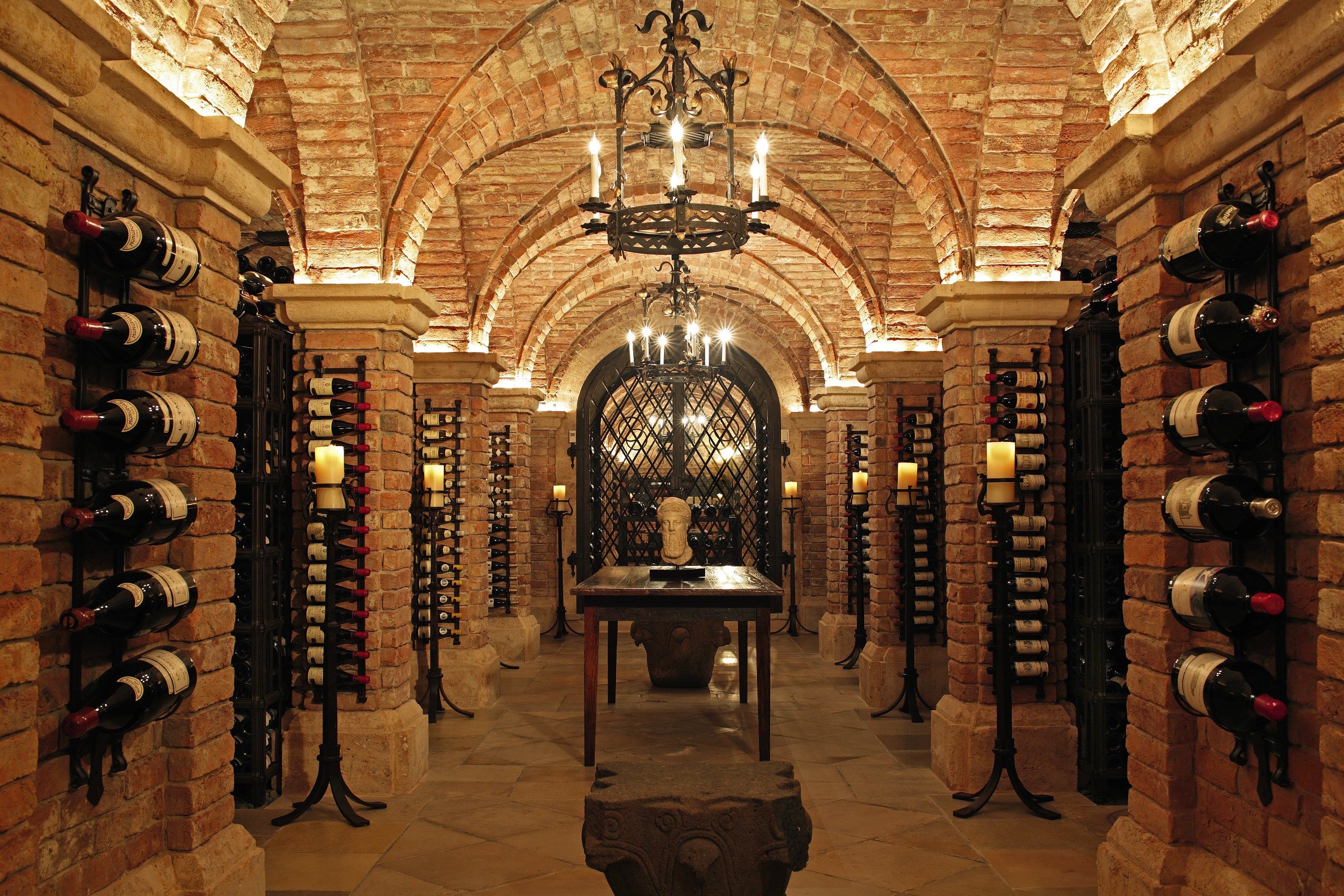 Image result for beautiful large wine cellar