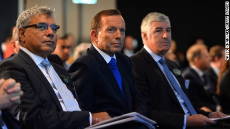 Warren Mundine (left) with former Australian Prime Minister Tony Abbott.