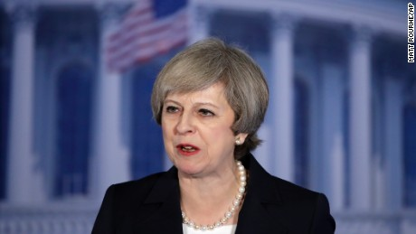 British PM May: Praise for Trump -- but strong words, too