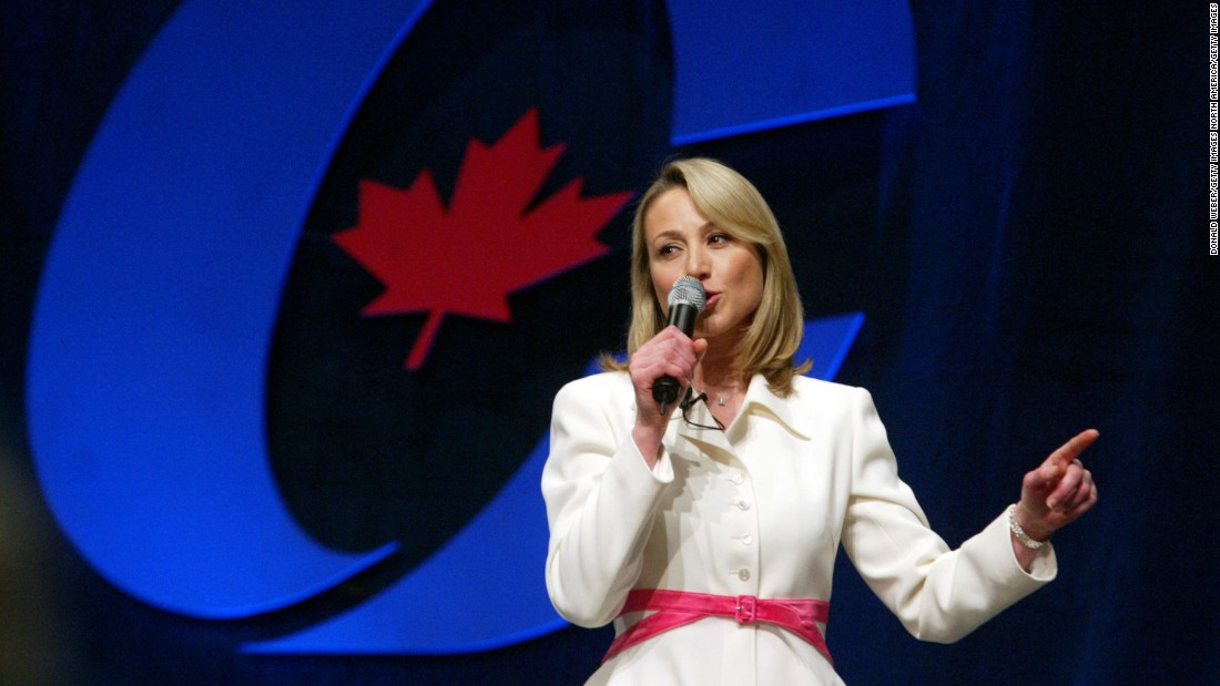 A former politician, Stronach ran to become leader of the Canada's Conservative Party in 2004. She served as an MP from 2004-2008, switching her allegiance to join the Liberal Party in 2005.