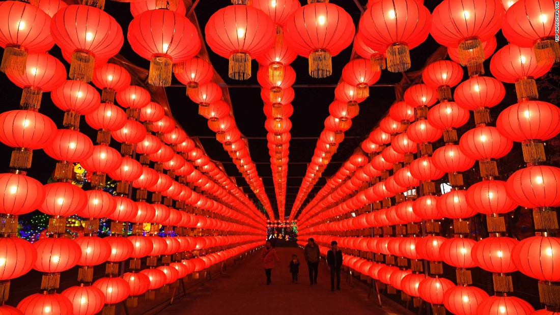 "Red lanterns hang in Chongqing, China, ahead of <a href=""http://www.cnn.com/2017/01/24/travel/gallery/lunar-new-year-2017/index.html"" target=""_blank"">the Lunar New Year</a> on Monday, January 23. The Lunar New Year starts on January 28 and marks the Year of the Rooster on the Chinese calendar."