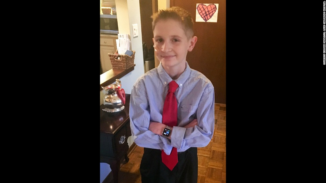 February 2016:  Spencer Kolman attending his high school Valentine's dance nine months before being admitted to St. Louis Children's Hospital.
