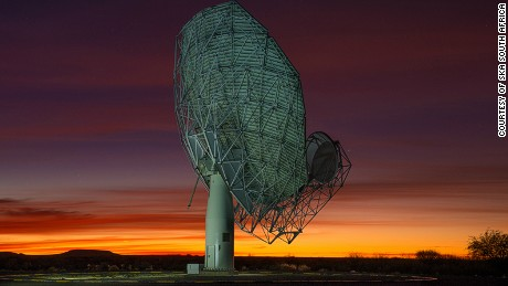 An artist's impression of South Africa's SKA telescope