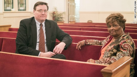 Wesley Edwards and Bobbie Hart, founders of Troup Together, a group promoting racial reconciliation that investigated the lynching of Austin Callaway in LaGrange Georgia, in 1940.