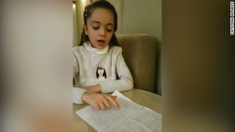 Syrian girl reads letter asking Donald Trump to save her friends