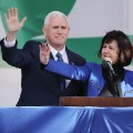 Pence and family at Life March 0127