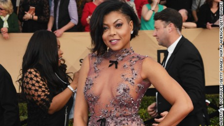 LOS ANGELES, CA - JANUARY 29:  Actor Taraji P. Henson attends the 23rd Annual Screen Actors Guild Awards at The Shrine Expo Hall on January 29, 2017 in Los Angeles, California.  (Photo by Alberto E. Rodriguez/Getty Images)