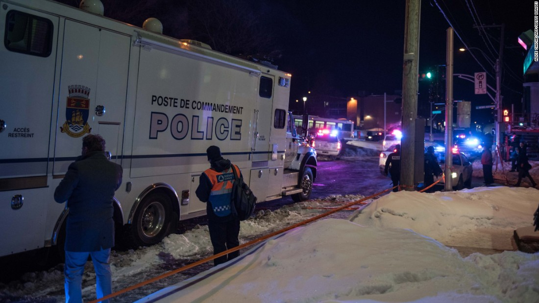 Mosque Shooting Picture: Quebec Mosque Attack: 6 Dead, Police Say