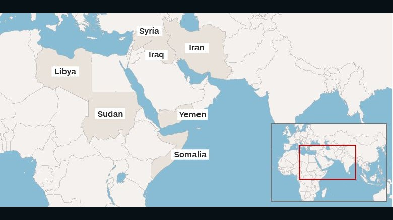 A Timeline Of President Trumps Travel Bans CNN - Blank map of the us travel log