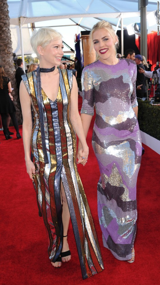 Michelle Williams, left, and Busy Philipps