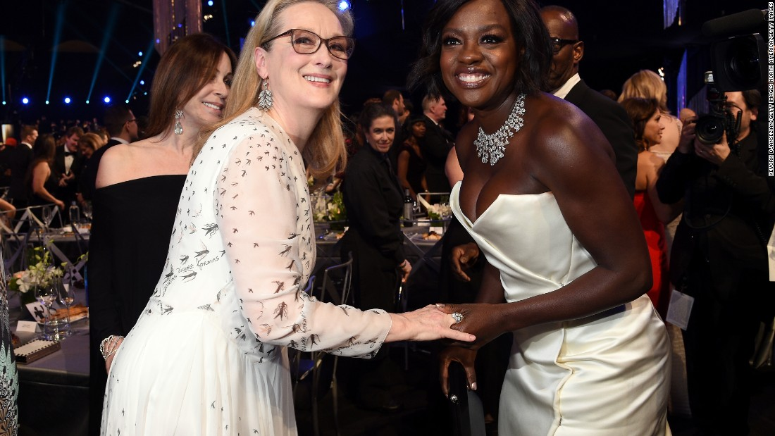"No doubt about the star power of these two. Friends and ""Doubt"" co-stars Meryl Streep and Viola Davis take a moment to catch up."
