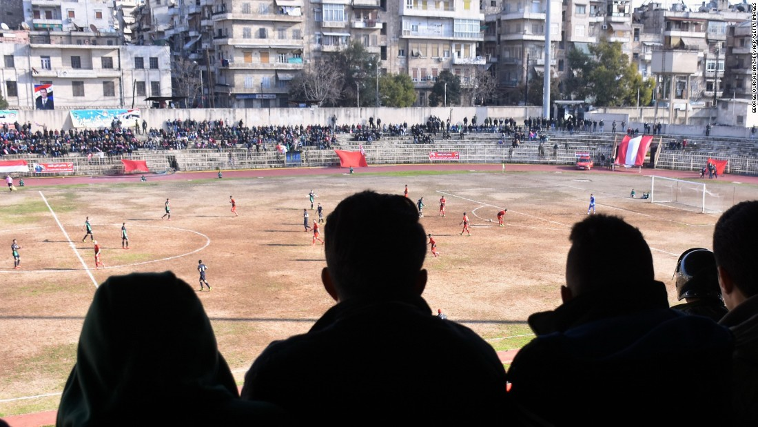 For the first time in five years, professional football returned to the war-torn Syrian city of Aleppo on January 28.