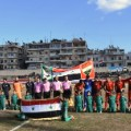 aleppo football teams line up