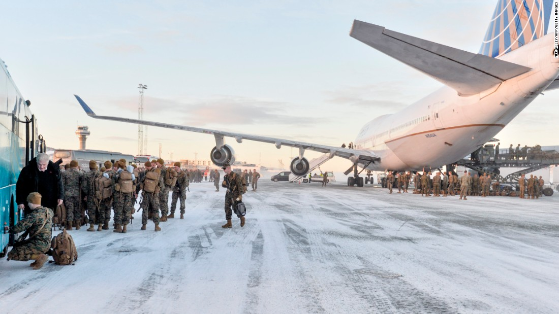 "US Marines disembark after landing in Stordal, Norway, on Monday, January 16. Some 300 Marines <a href=""http://www.cnn.com/2016/11/29/europe/us-norway-war-games-russia-border/"" target=""_blank"">will be stationed in Norway</a> as part of a package of measures intended to reassure one of NATO's most easterly members."