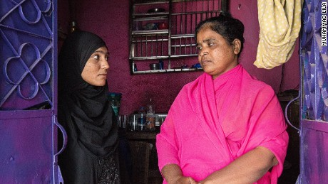 Muneera Begum, left, was sold by her mother into a sham marriage.