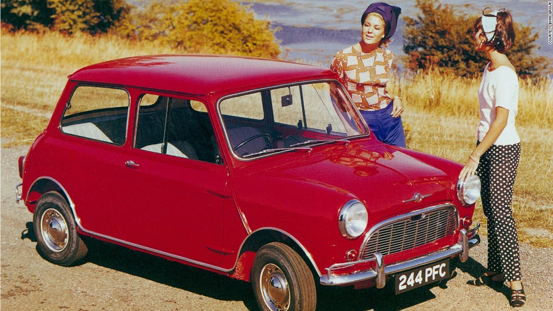 Less glamorous than the E-type, but no less important, the Mini was born in 1959, when engineer and designer Sir Alec Issigonis designed a small, accessible car by pushing the wheels out to the corners and placing the engine sideways to make more space for passengers.