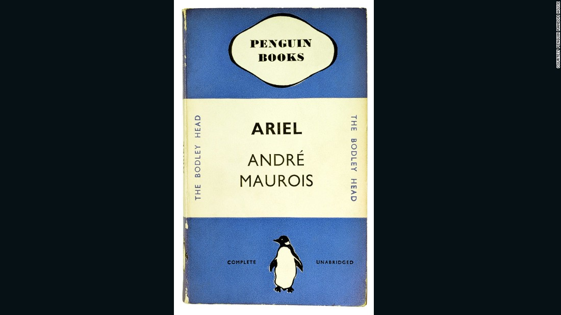 "Penguin's classic covers originate from the publishing house's first book, ""Ariel,"" by André Maurois, published in 1935. It was designed by Penguin's first production manager, Edward Young. This was also the birth of the distinctive Penguin logo, which Young sketched using the penguins at London Zoo as models.<br />"