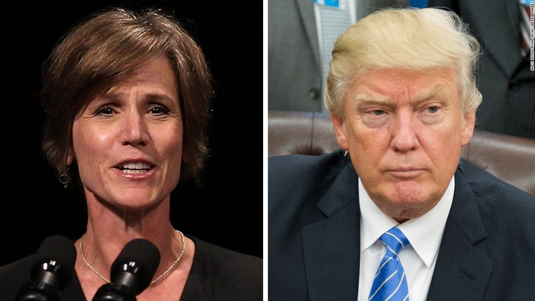 Trump fires acting AG after she declines to defend travel ban