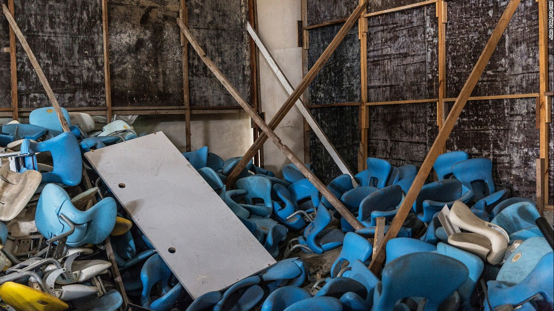 Some of the Maracana's missing seats can be seen abandoned in a storage warehouse inside the stadium.