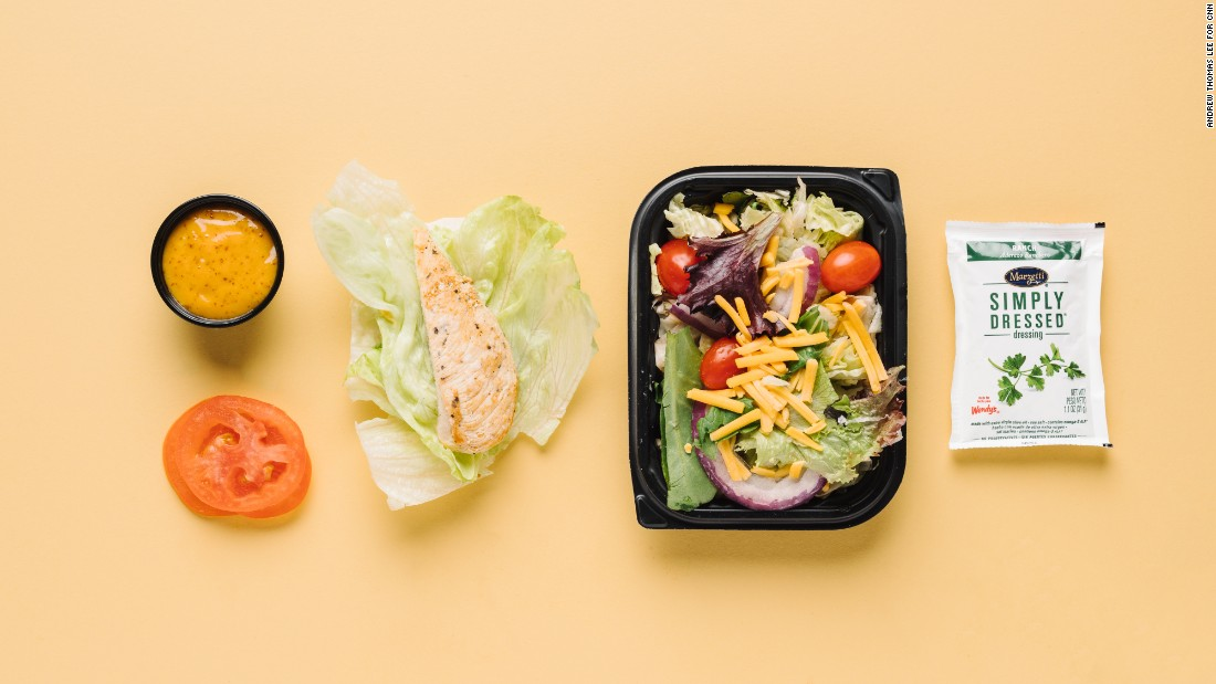 Wendy's will prepare a sandwich without a bun and serve it as a lettuce wrap instead. Our top choice is the grilled chicken with honey mustard and tomato, with only 6 grams of carbs. For more greens and fiber, add a garden side salad with ranch dressing but without croutons for an additional 6 grams.<br />