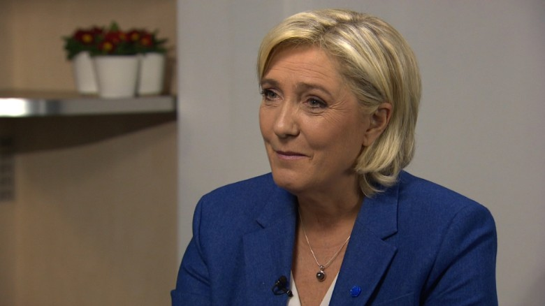 Marine Le Pen runs for French president