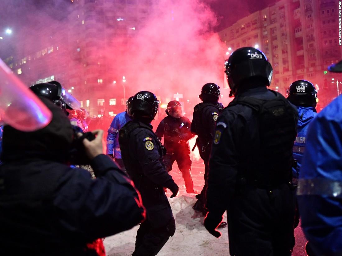 Romanians rage on