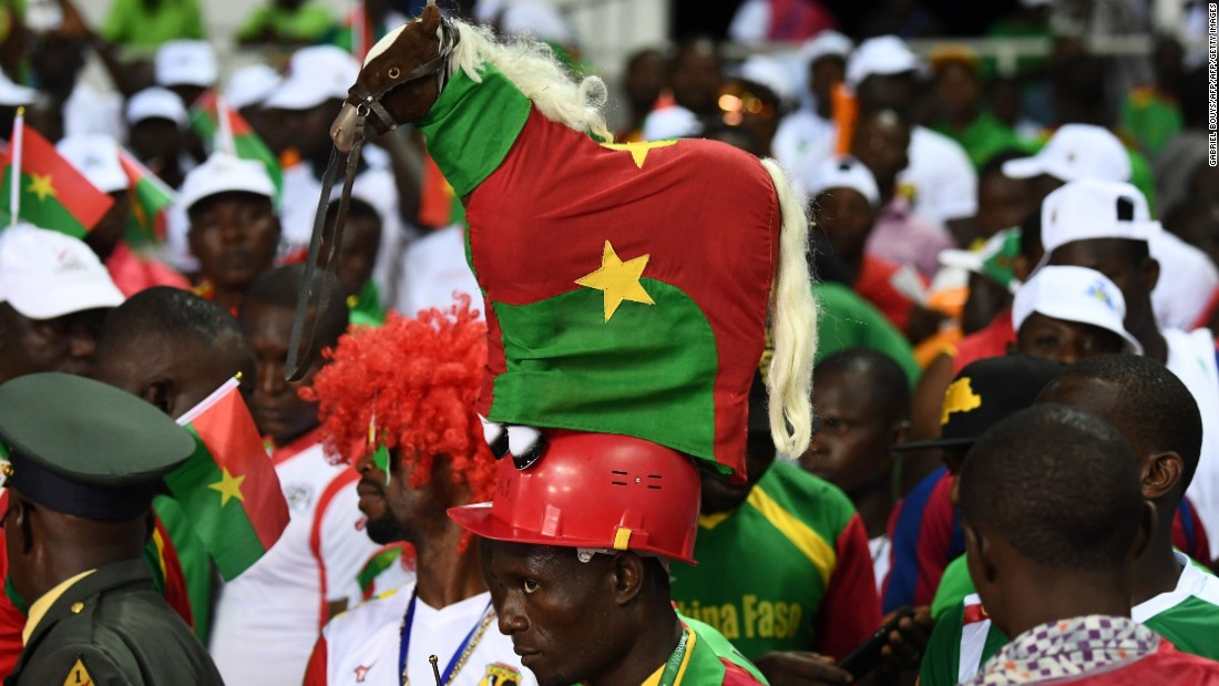 Burkina Faso's fans went into the match with confidence,  as the Stallions had won their previous semifinal clash in 2013.