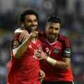 salah celebrates afcon