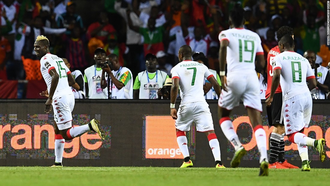 However, it wasn't long before Burkina Faso leveled. Aristide Bance brought the ball down on his chest brilliantly and volleyed past El-Hadary.