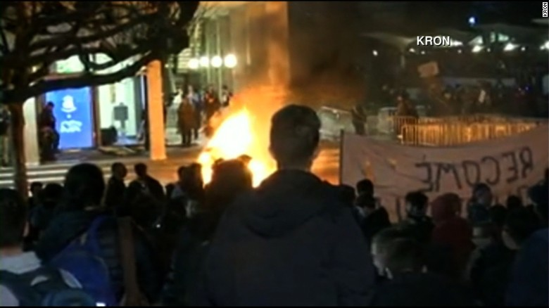 Protests turn violent at right-wing event