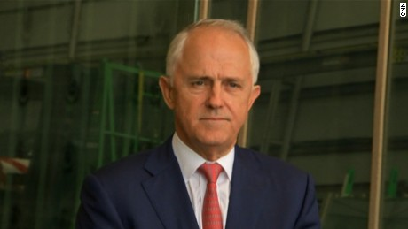 Australian Prime Minister Malcolm Turnbull refuses to comment on the end of his conversation with President Trump
