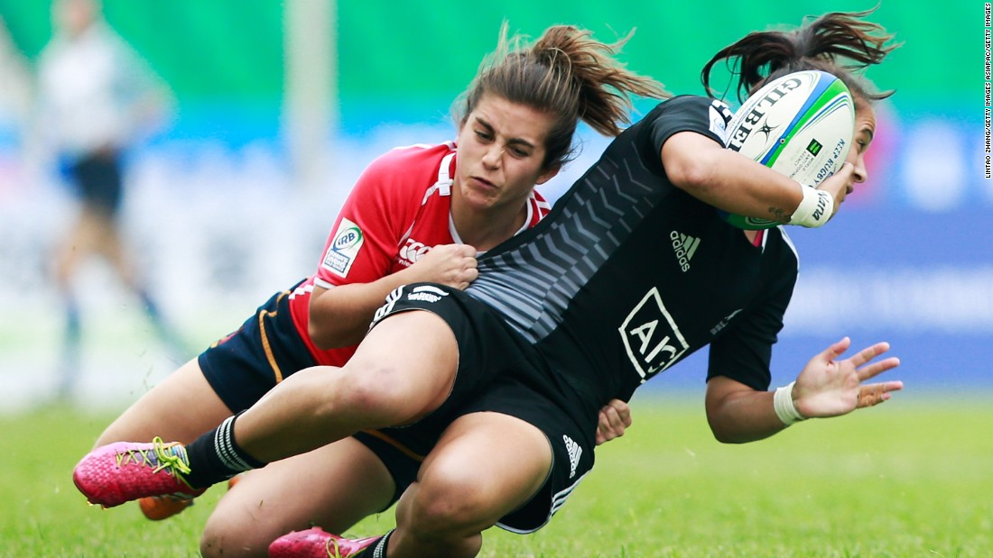 Garcia tried rugby for the first time at university -- where she attained a sports science degree -- and fell in love with every aspect of the game, from running to tackling.