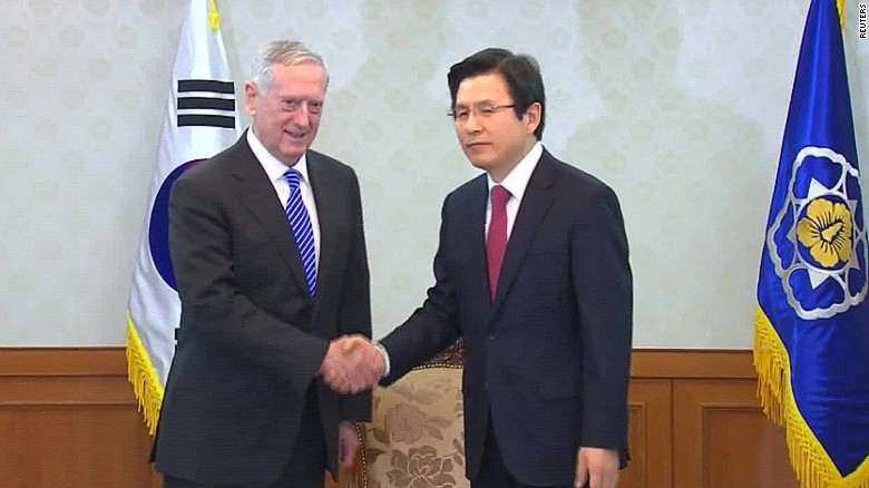 us secretary defense mattis visit south korea alexandra field_00010425