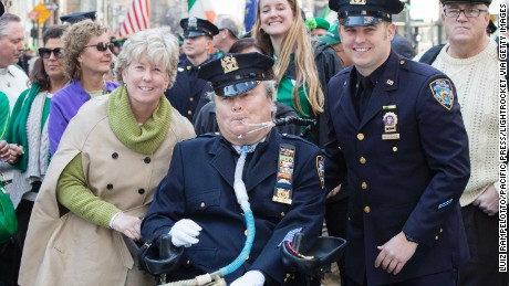 Seven and Conor McDonald at last year's St. Patrick's Day Parade.