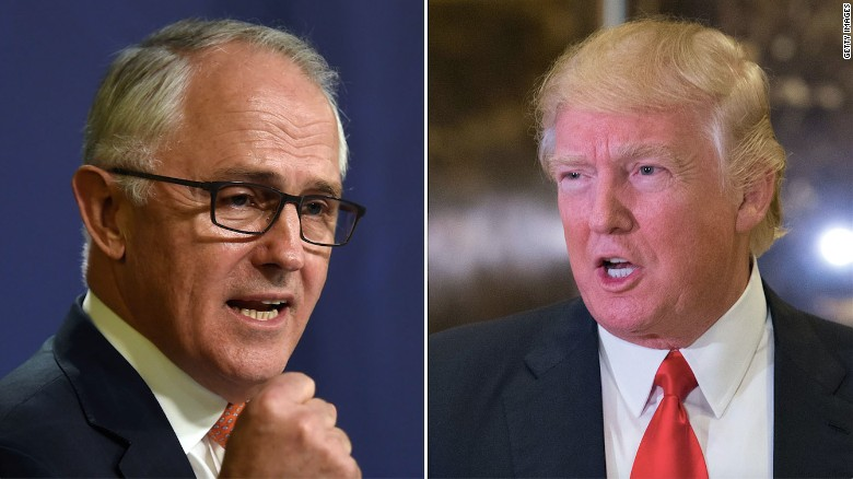 Trump blasts Australia's PM over refugees