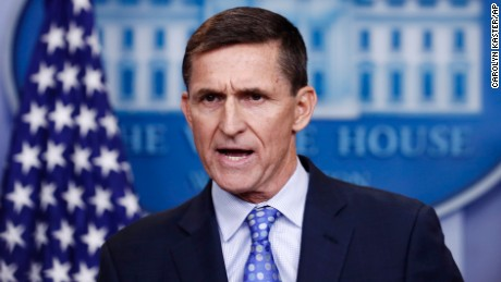 "National Security Adviser Michael Flynn speaks during the daily news briefing at the White House, in Washington, Wednesday, Feb. 1, 2017. Flynn said the administration is putting Iran ""on notice"" after it tested a ballistic missile. (AP Photo/Carolyn Kaster)"