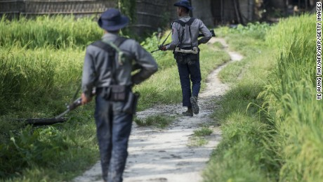 Police killed in new violence in Myanmar's Rakhine State